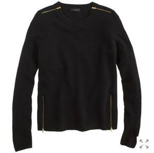 J. Crew | Double-zip sweater